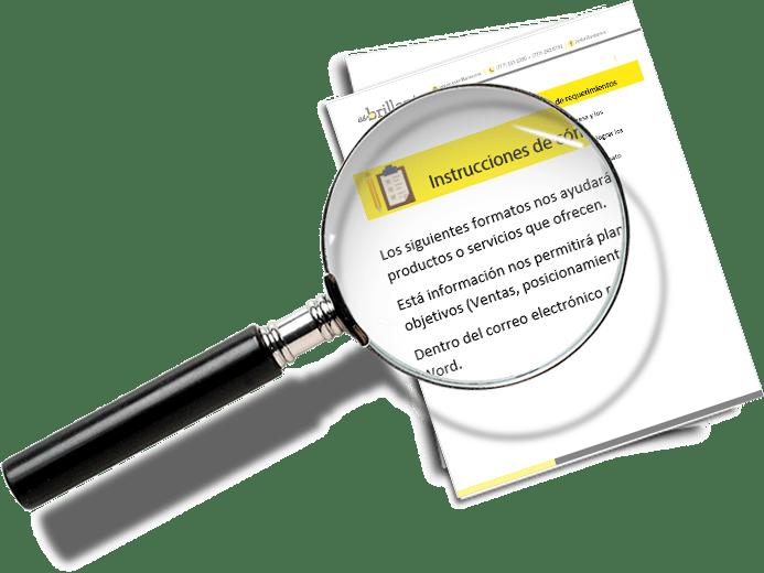 Formato de requerimientos de sitio Web