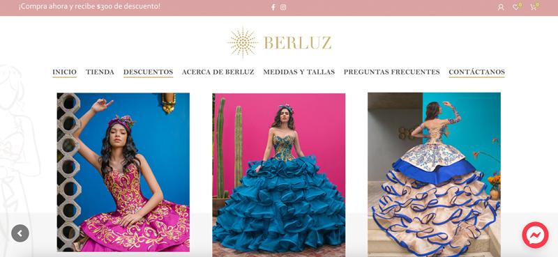 diseños de tiendas en linea de vestidos