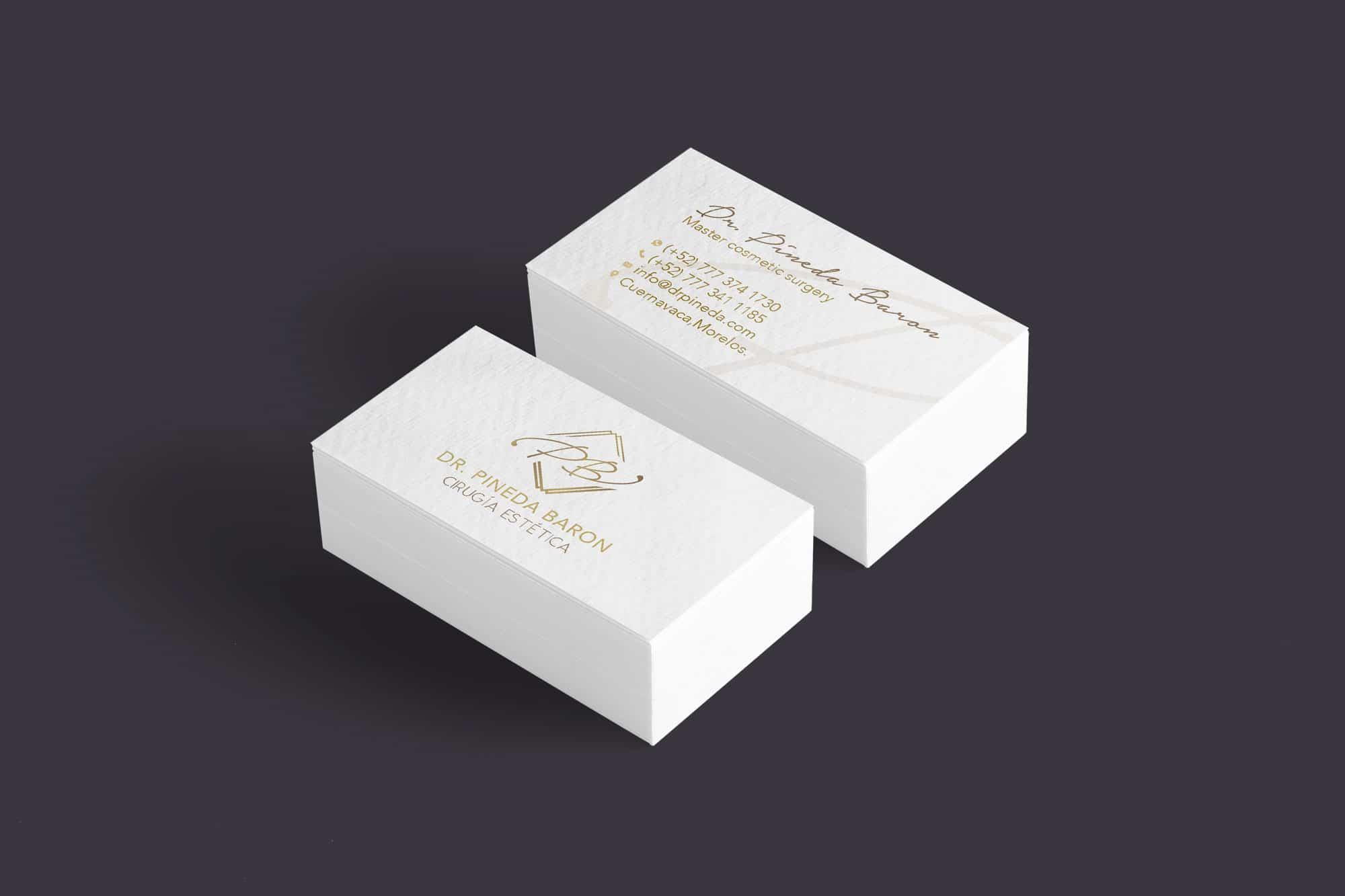 rediseño de logotipo tarjeta dr pineda