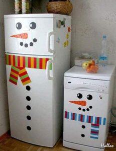refrigerador-cocina-munecos-de-nieve