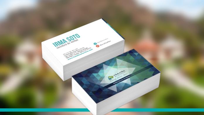 tarjetas de presentación de irma soto