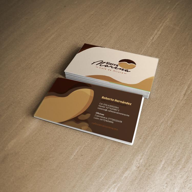 diseño de tarjetas de presentación para sierra morena