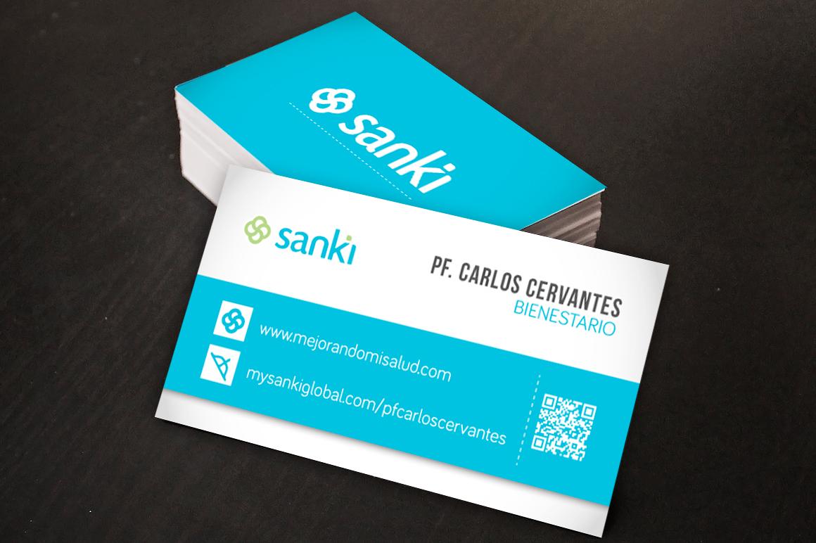 diseño de tarjetas de presentación Sanki