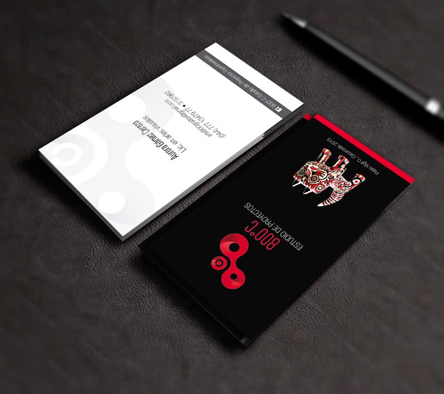 tarjeta de presentación para artista