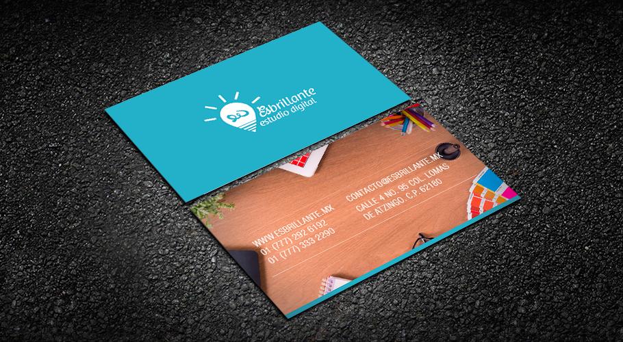 tarjetas de presentación esbrillante