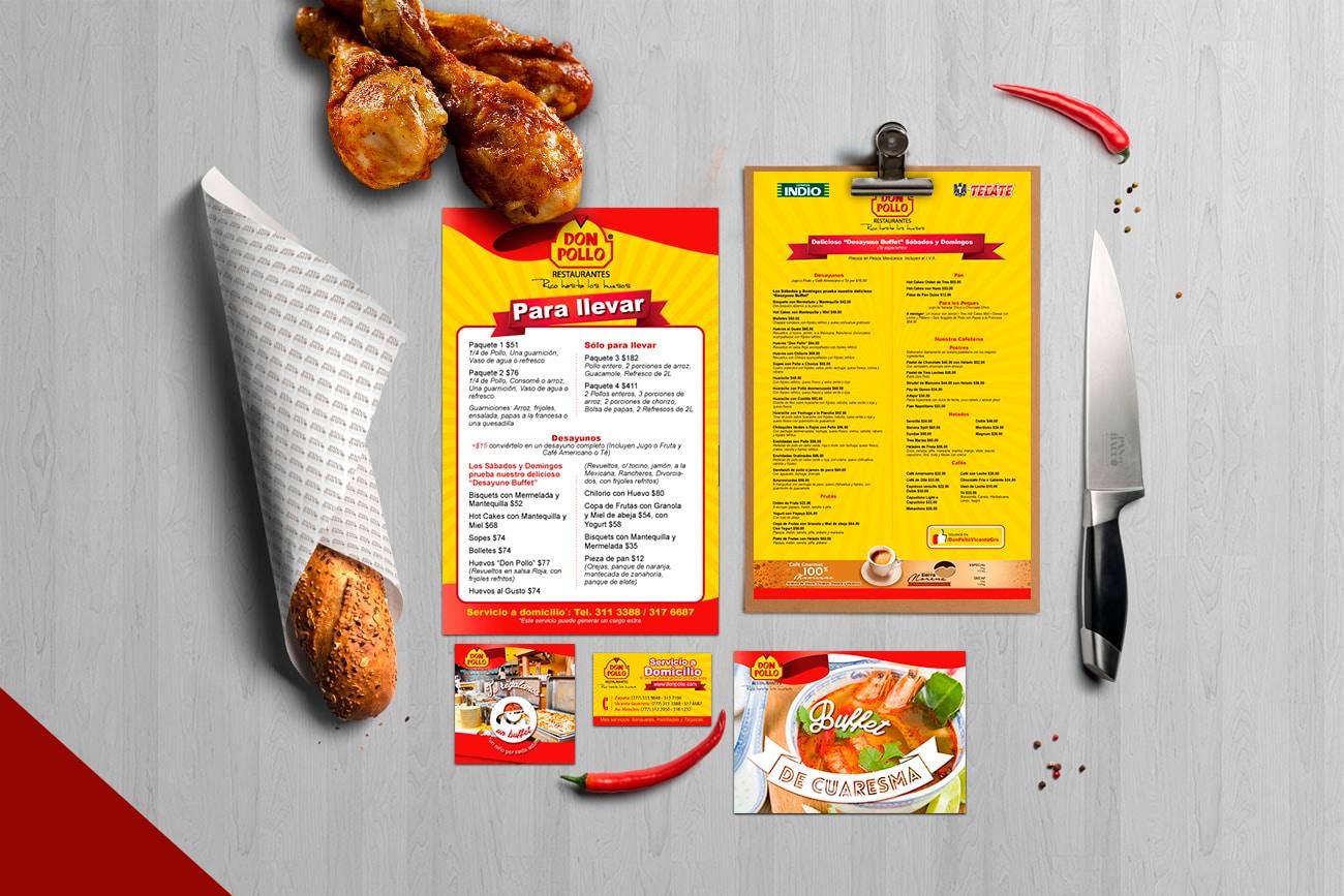 restaurante don pollo aplicaciones de diseño