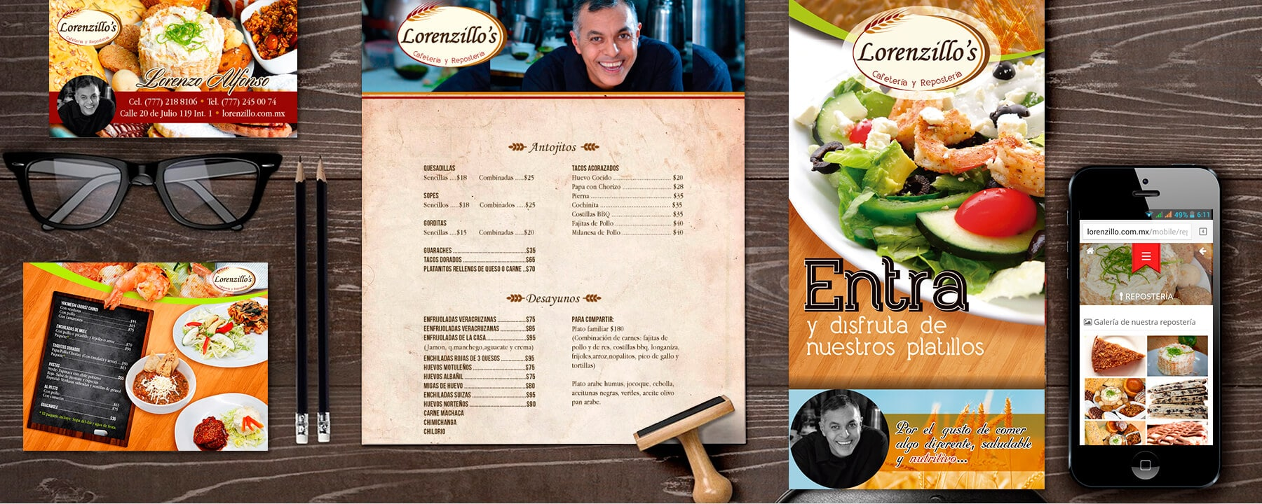 lorenzillo restaurante identidad visual corporativa