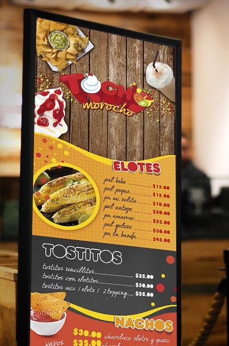 diseño de menu restaurante
