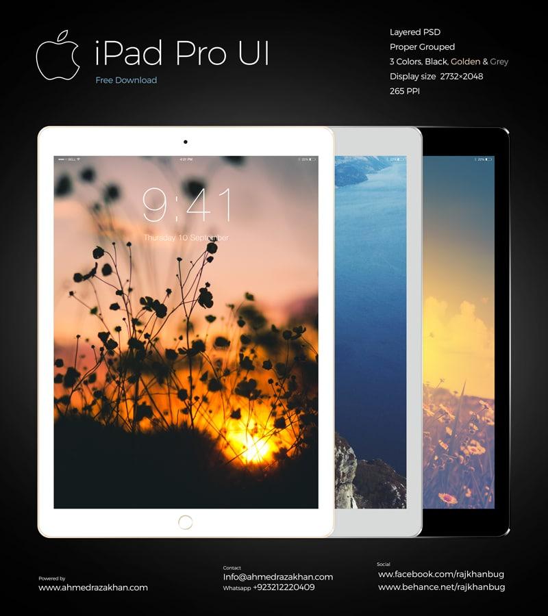 Mockup iPad Pro ui