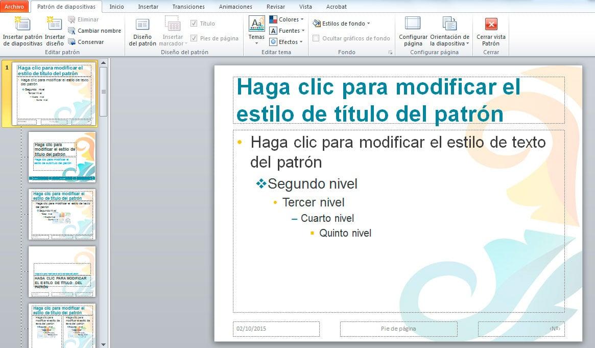 diseño personalizado powerpoint