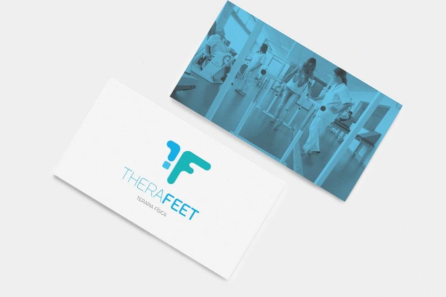 TheraFeet logotipo diseño medico