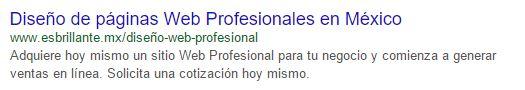 ejemplo de resultado de búsqueda en Google