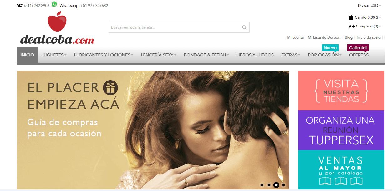 página web de negocios