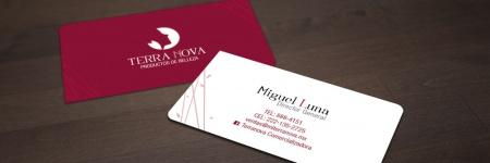 terranova diseño grafico en cuernavaca terranova marca de cosmeticos tarjetas de presentacion