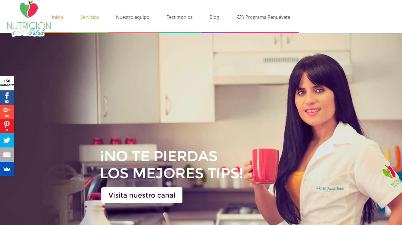 páginas web en cuernavaca nutrición por tu salud