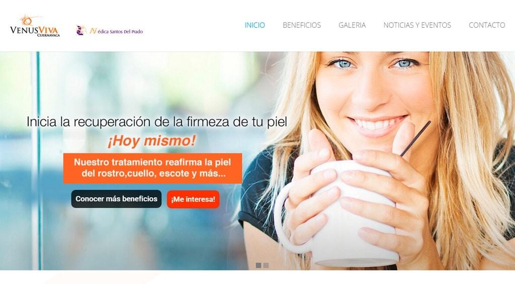 diseños de páginas web en cuernavaca Venus Viva