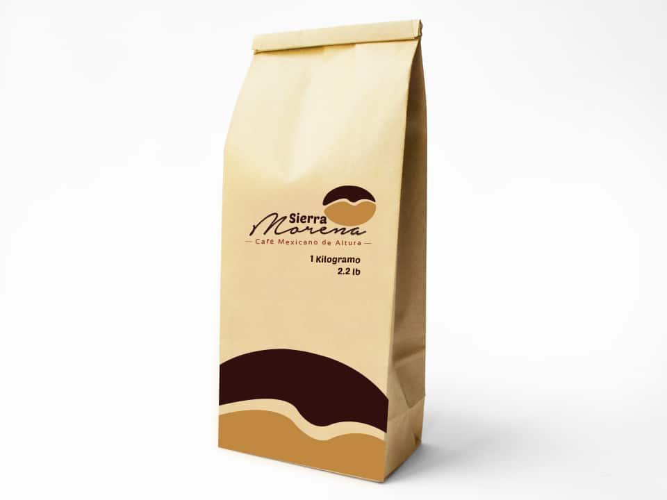 Diseño de imagen Corporativa en Cuernavaca empaque cafe sierra morena