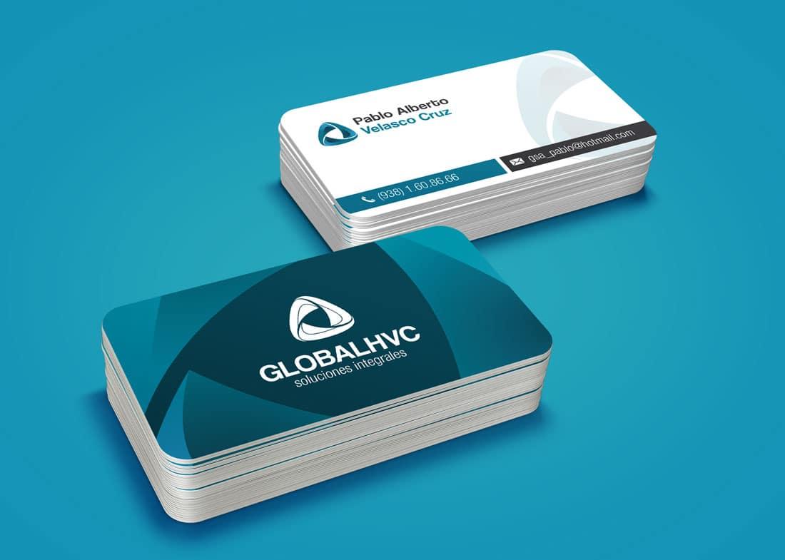 diseño de tarjetas de presentacion cuernavaca global hvc