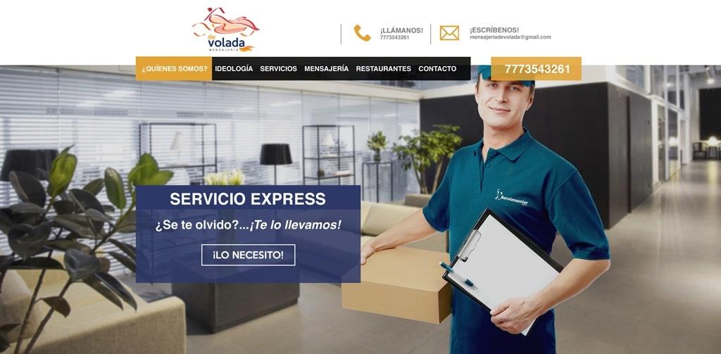 diseño de página web mensajería devolada