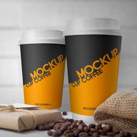 mockup vaso de café
