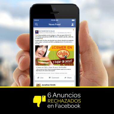 6 Ejemplos anuncios que Facebook no acepta