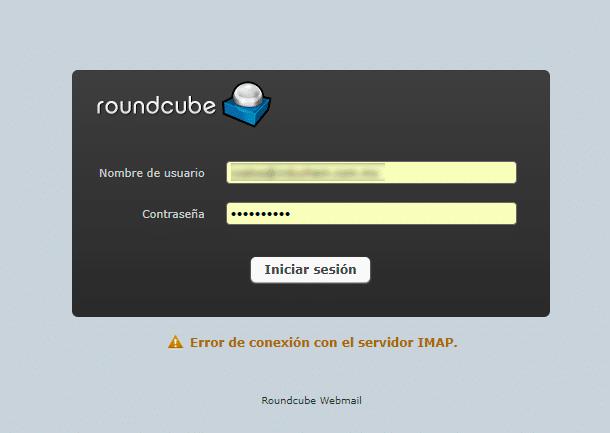 error de conexión con el Servidor IMAP