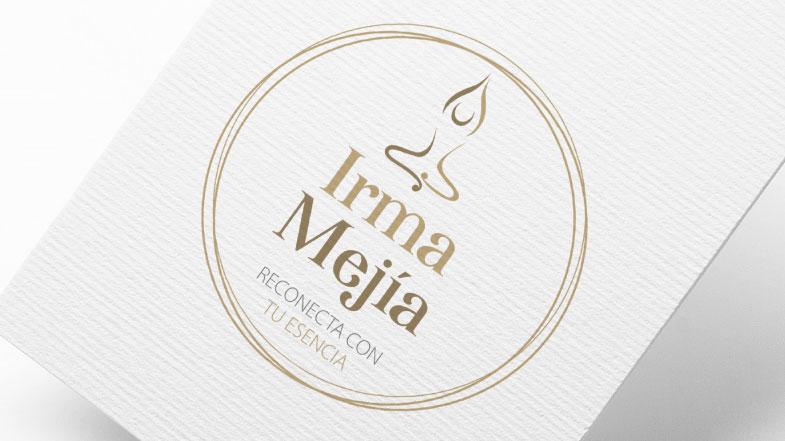 diseño de logo para irma mejia