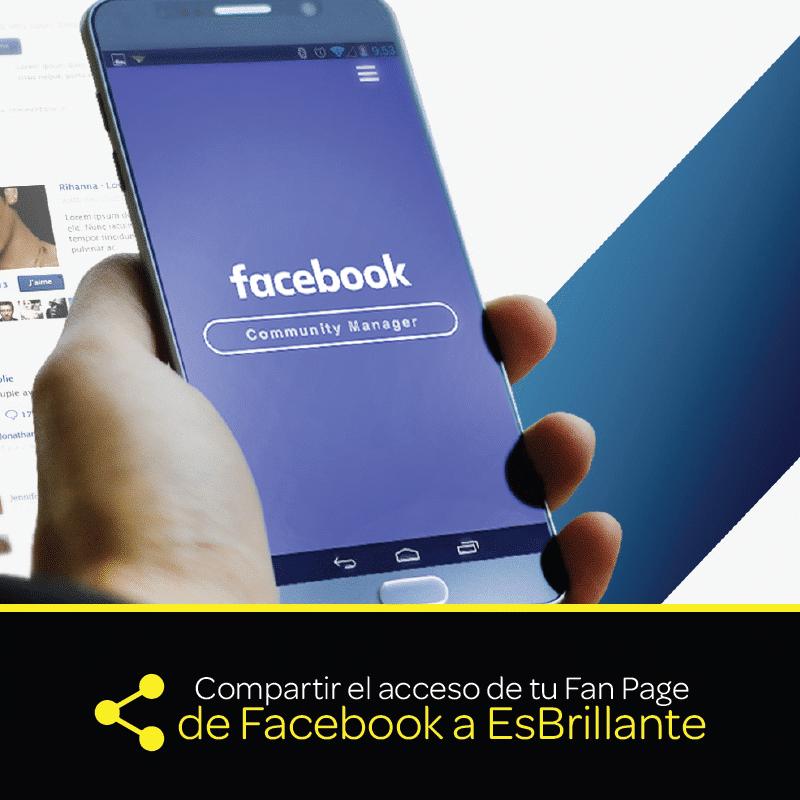Compartir el acceso de tu fan page de Facebook a EsBrillante