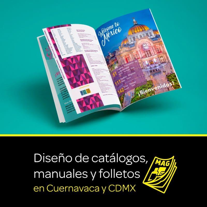 Diseño de catálogos, manuales y folletos en Cuernavaca y CDMX