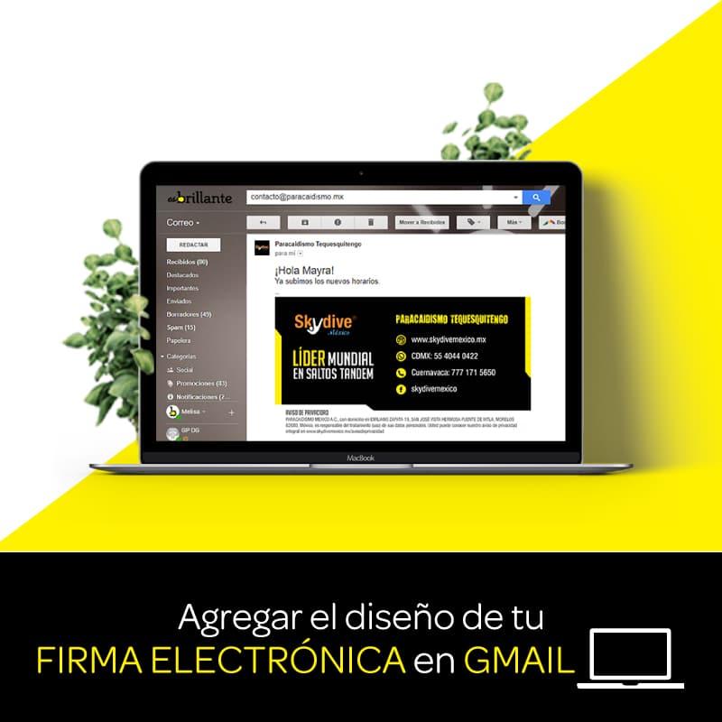 Agregar el diseño de tu firma electrónica en Gmail tutorial