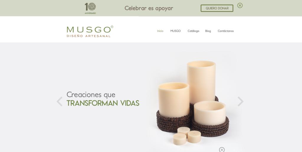 diseño web para MUSGO