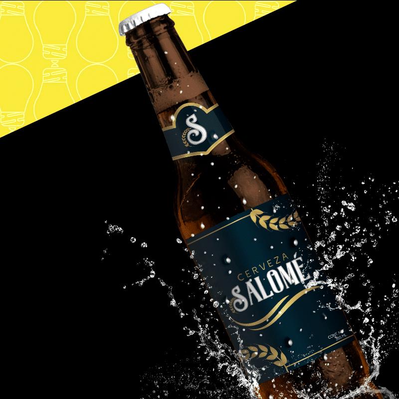 Cerveza Salomé diseño de cerveza oscura