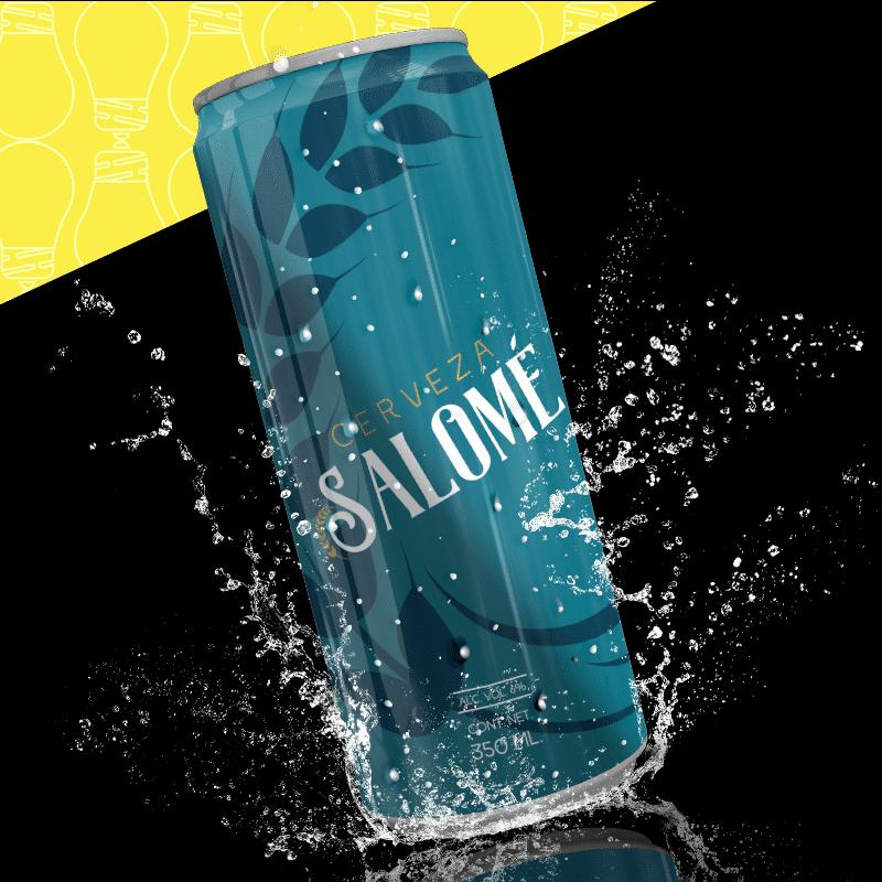 Cerveza Salomé diseño de lata