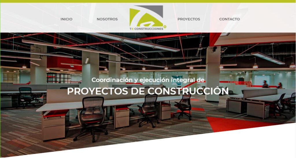 diseño web de t4 construcciones