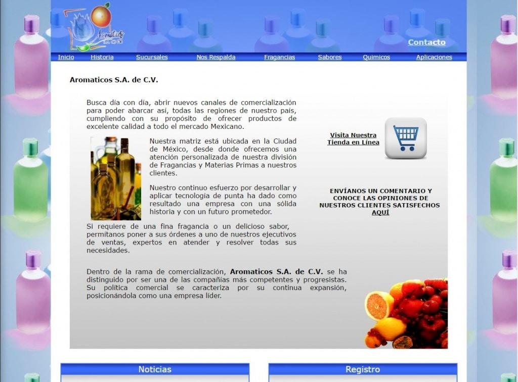 pagina anterior de aromáticos