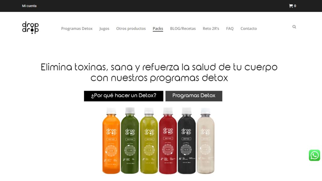diseño de página web de DropDrop