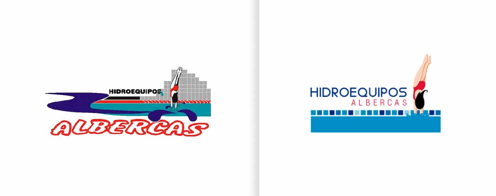 rediseño de logotipo hidroequipos albercas