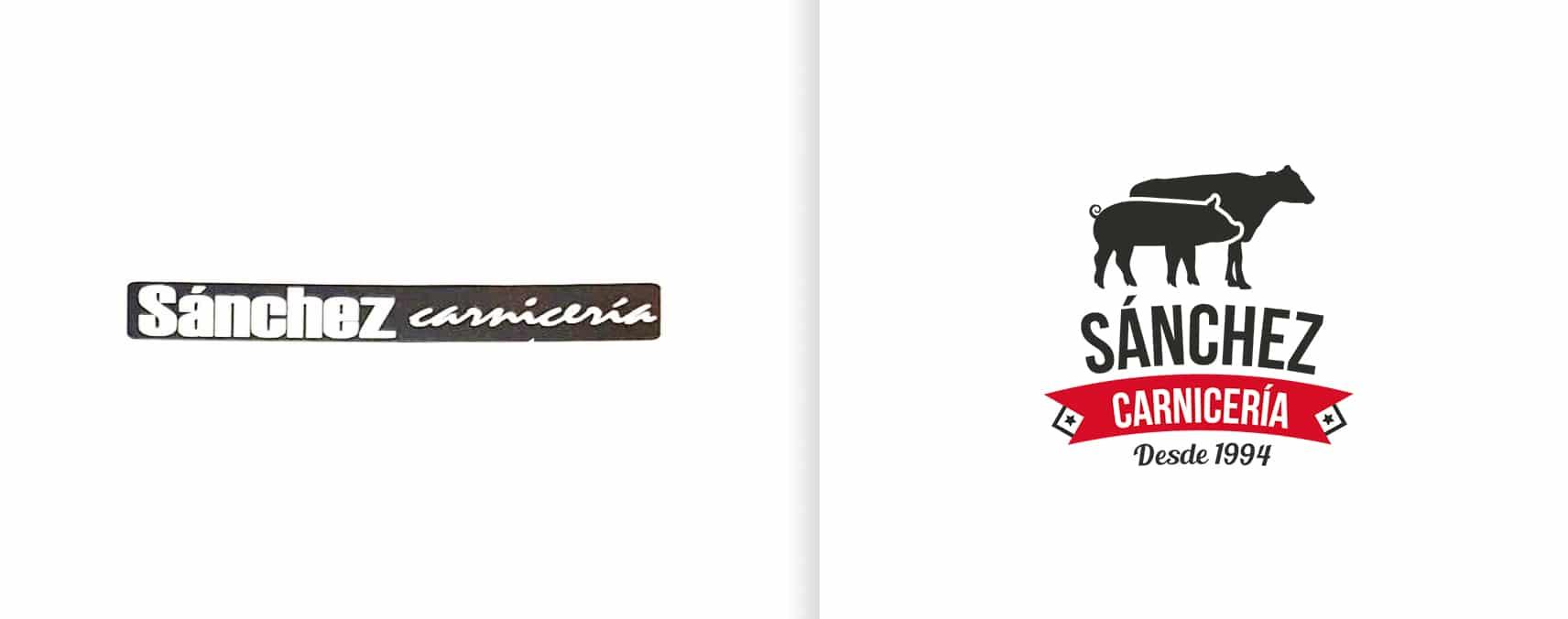 rediseño de logotipo carniceria sanchez