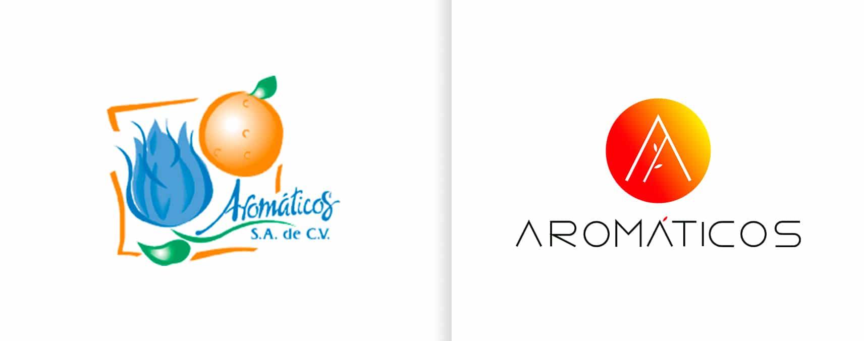 rediseño de logotipo aromaticos fragancias perfume